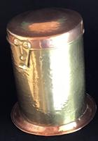 Arts and Crafts Copper and Brass Tea Caddy (2 of 4)
