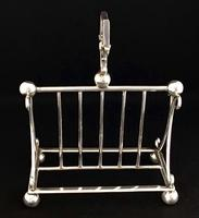Aesthetic Silver Plated Toast / Letter Rack (2 of 4)