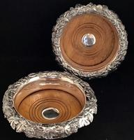 Pair of Silver Plated Mid Victorian Bottle Coasters (2 of 7)