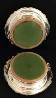 Pair of Silver Plated Mid Victorian Bottle Coasters (5 of 7)