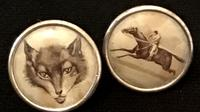 Victorian Lithograph Contryside Buttons