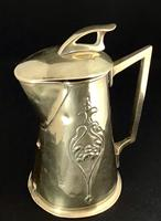 Arts and Crafts Brass  Repousse Jug