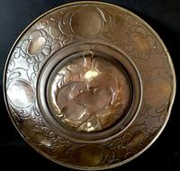 Large Art Nouveau Brass Repousse Charger (5 of 5)