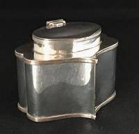 Antique Silver Plate On Copper  Tea Caddy