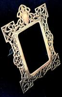 Victorian Brass Reticulated Easel Photo Frame (2 of 3)