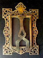 Victorian Brass Reticulated Easel Photo Frame (3 of 3)