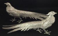 Pair of Silver Plated Table Pheasants (2 of 4)