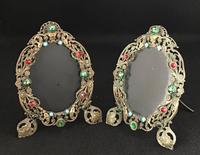 Pair of Filigree and  Faux  Jewel Easel Photograph Frames (4 of 4)