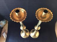 Gothic Revival Tall  Brass Altar Candlesticks (4 of 6)
