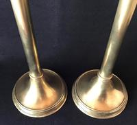 Gothic Revival Tall  Brass Altar Candlesticks (3 of 6)