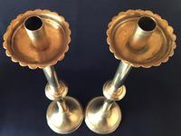 Gothic Revival Tall  Brass Altar Candlesticks (5 of 6)