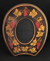 Arts and Crafts Wooden  Penwork Easel Photo Frame (3 of 4)