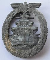 Original Kriegsmarine High Seas Fleet Badge; French Made