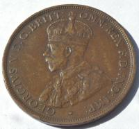 1915 H Heaton Australia King George V Penny Bronze High Grade Coin (2 of 2)