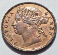 1888 Mauritius Queen Victoria One Cent Very High Grade Coin (2 of 2)