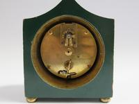 Antique French Green Chinoiserie Mantel Clock (7 of 7)