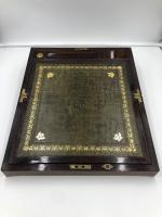 Antique Victorian Rosewood Brass Bound Writing Box (2 of 5)