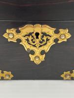 Antique Victorian Brass Mounted Coromandel Tea Caddy (2 of 5)