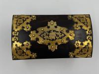Antique Victorian Brass Mounted Coromandel Tea Caddy (3 of 5)