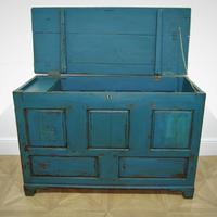 18th Century Painted Oak Coffer (3 of 5)