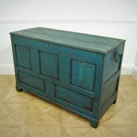 18th Century Painted Oak Coffer (4 of 5)