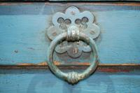 18th Century Painted Oak Coffer (5 of 5)