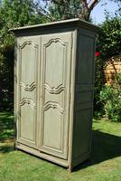 Painted French Oak Armoire c.1790