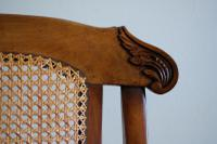 19th Century Mahogany Framed Folding Campaign Chair, Cane Work Seat & Back (4 of 10)