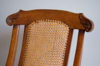 19th Century Mahogany Framed Folding Campaign Chair, Cane Work Seat & Back (5 of 10)
