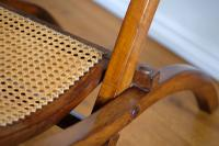 19th Century Mahogany Framed Folding Campaign Chair, Cane Work Seat & Back (7 of 10)