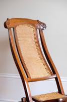 19th Century Mahogany Framed Folding Campaign Chair, Cane Work Seat & Back (3 of 10)