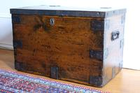 Small Antiqued Iron Bound Pine Chest (5 of 8)