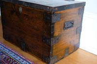 Small Antiqued Iron Bound Pine Chest (6 of 8)