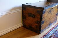 Small Antiqued Iron Bound Pine Chest (7 of 8)