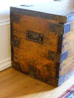 Small Antiqued Iron Bound Pine Chest (8 of 8)