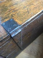 Small Antiqued Iron Bound Pine Chest (3 of 8)