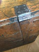 Small Antiqued Iron Bound Pine Chest (4 of 8)