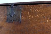 17th Century Oak Six Panel Coffer, Gouged Borders, V Cut Ends (3 of 12)