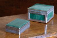 Two Jadeite & Silver Indian Mounted Boxes (3 of 8)