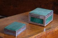 Two Jadeite & Silver Indian Mounted Boxes (2 of 8)