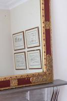 20th Century Italian Parcel Gilt Scarlet Painted Wall Mirror Moulded Frame (5 of 8)
