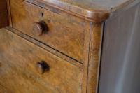 Victorian Burr Walnut Chest of Drawers (8 of 11)