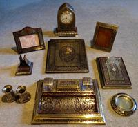 """Very Rare and Complete """"Boulle-Work"""" Desk Set"""