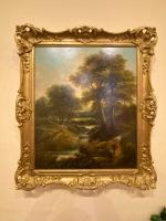 """Pair of Oil on Canvas Paintings """"Cattle Droving"""" by John Joseph Barker 'Bath' (5 of 6)"""