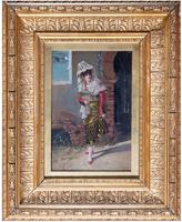 Superb Pair of Spanish Portrait Paintings by Adolfo Del Aguila Y Pimentel (4 of 4)