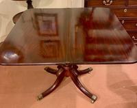 Lovely Early 19th Century Solid Mahogany Fold-Over Tea Table (4 of 6)