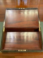 19th Century Rosewood & Brass Inlaid Writing Box (4 of 5)