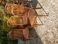 Set of 7 Arts & Crafts Dining Chairs by James Shoolbred (4 of 11)
