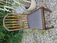 Set of 7 Arts & Crafts Dining Chairs by James Shoolbred (9 of 11)