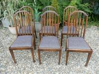 Set of 7 Arts & Crafts Dining Chairs by James Shoolbred (11 of 11)